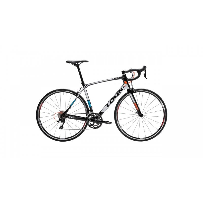 Bicicleta LOOK 765 OPTIMUM 105 Rosu Fluo - Albastru Lucios
