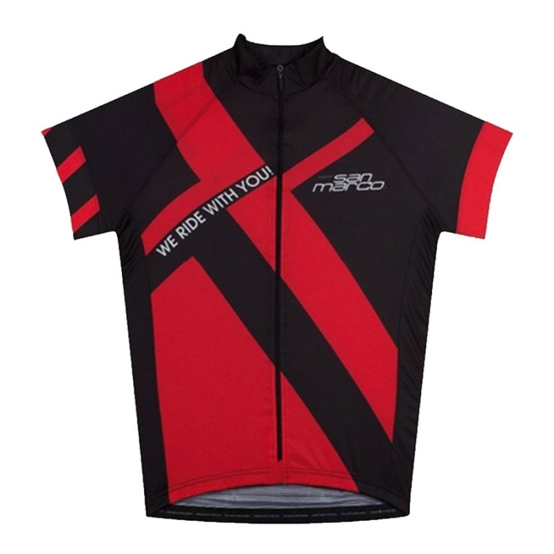 Tricou ciclism Selle San Marco Racing Black/Red