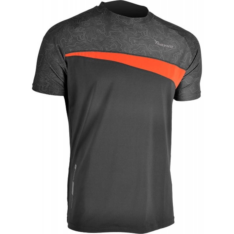 Tricou ciclism SILVINI Coli gri portocaliu