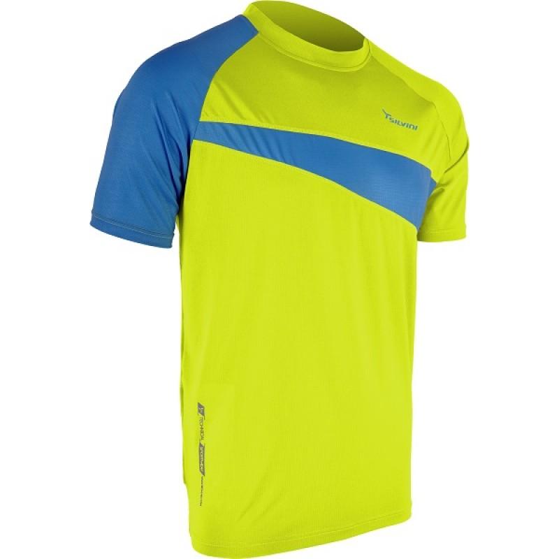 Tricou ciclism SILVINI Coli galben albastru