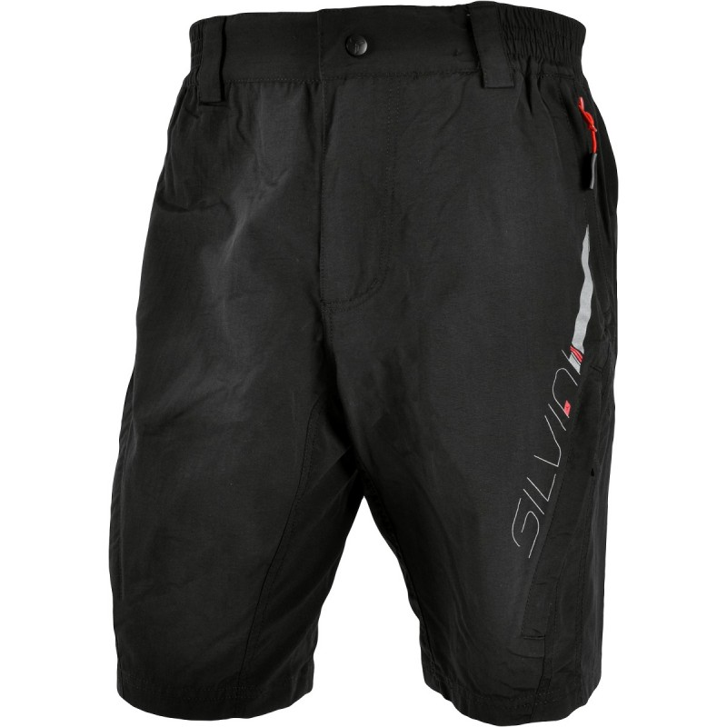 Pantaloni ciclism SILVINI MAGO negru rosu